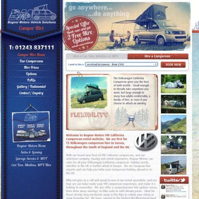 Bognor Motors Website Design