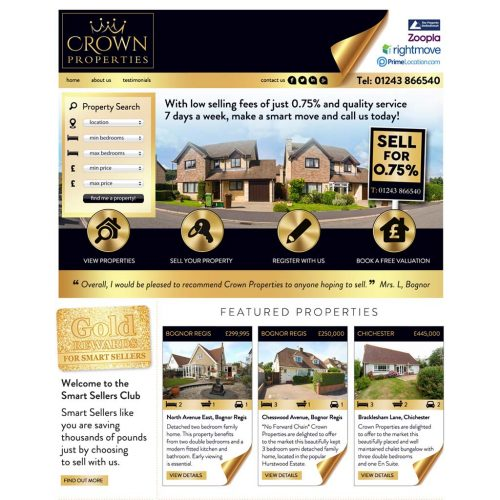 Crown Properties Website Design