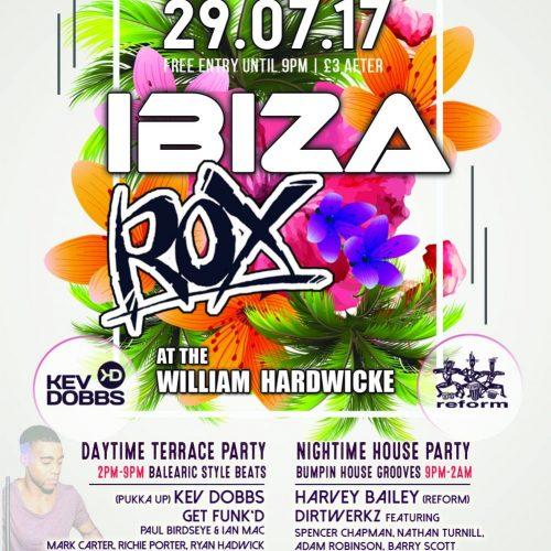 IBIZA ROX 2017 flyer