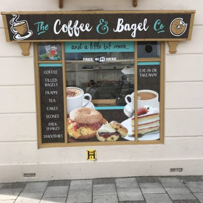 Coffee & Bagel Co. signage