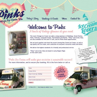 Pinks Website Design & Layout