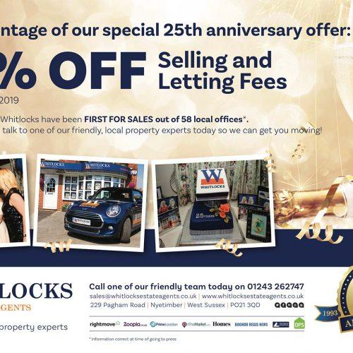 Whitlocks-25th-Anniversary-Press-Advert