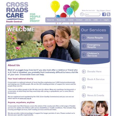 Crossroads Care South Central Website