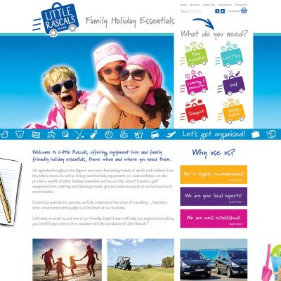 Little Rascals Algarve Website Design