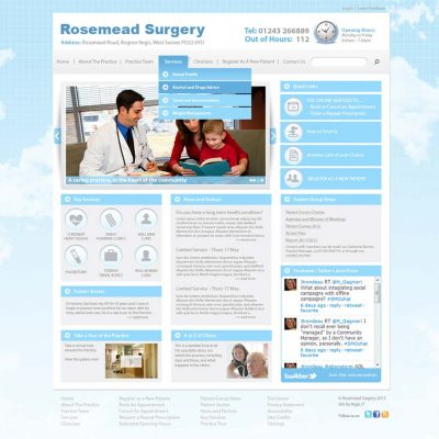 Surgery Website Design